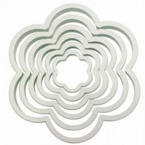 PME Rose leaf serrated cutter set/3