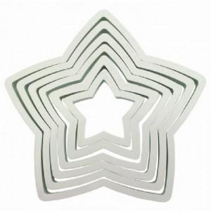 Découpoirs PME étoile 6 pièces
