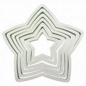 PME Plastic Cutter Star Set/6