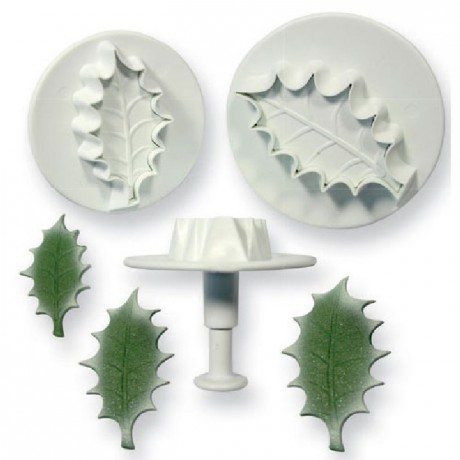PME Holly leaf plunger cutter pk/3 Large size