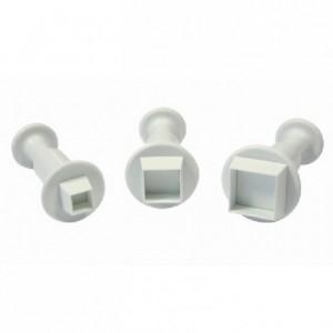 PME Miniature Square Plunger Cutter pk/3