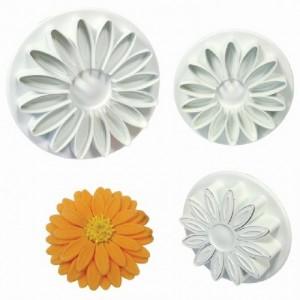 PME Sunflower Daisy Gerbera Plunger Cutter set/3