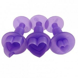 Wilton Fondant Mini Cutters Hearts pk/3