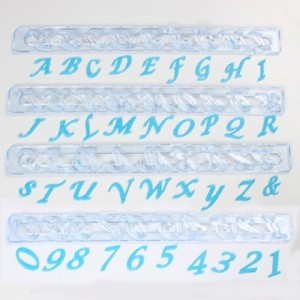 FMM Alphabet and Numbers tappits Upper Case Script Italic