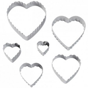 Wilton Double Cut Outs Heart Set/6