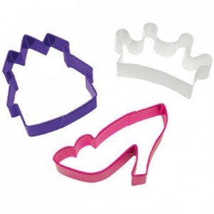 Découpoirs Wilton château, chaussure et couronne 3 pièces 7,5 cm