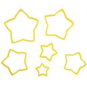 Découpoirs Wilton étoiles 6 pièces