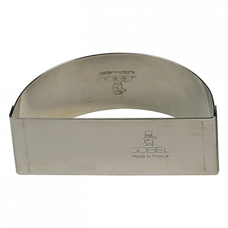 Half moon stainless steel H30 60x30 mm (pack of 6)