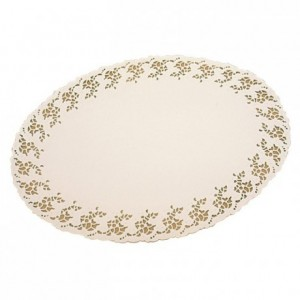 White oval doily Harmony 310 x 230 mm (250 pcs)