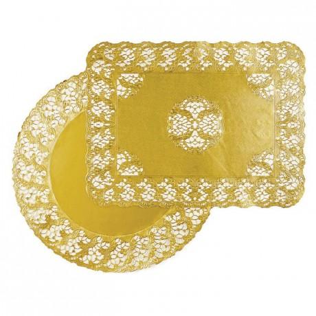 Gold round doily Harmony Ø 250 mm (100 pcs)
