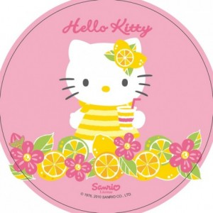 Disque en sucre Hello Kitty 22 cm