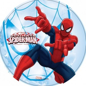Disque en azyme Spiderman 22 cm