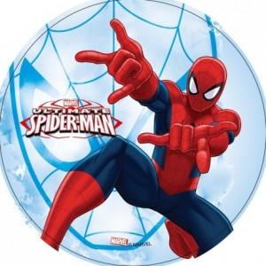 Wafer paper disc Spiderman 22 cm