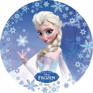 Wafer paper disc Frozen 22 cm