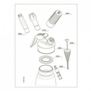 Douille cannelée pour siphon Cream  Whip et Cream  Profi+