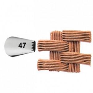 Douille de décoration Wilton 047 Basket weave Carded