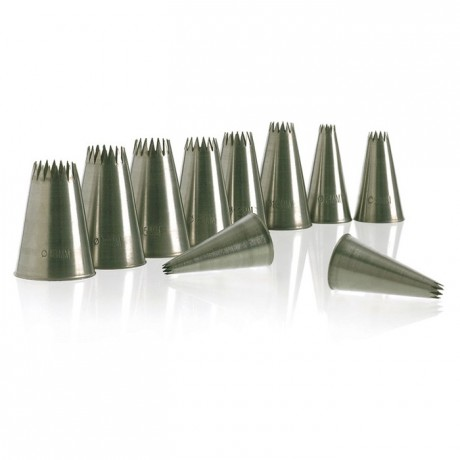 Petit four tubes PF12 stainless steel (2 pcs)
