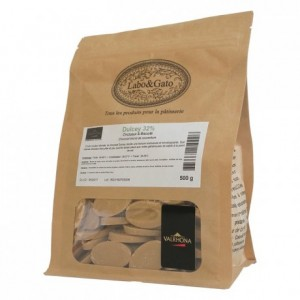 Dulcey 32% chocolat blond de couverture fèves 500 g