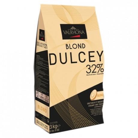 Dulcey 32% chocolat blond de couverture fèves 3 kg