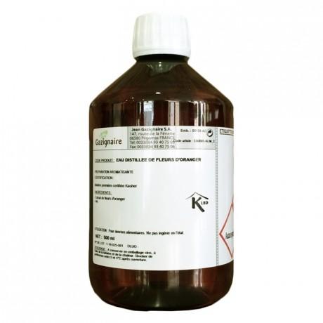 Eau distillée d'arôme naturel fleur d'oranger 500 mL