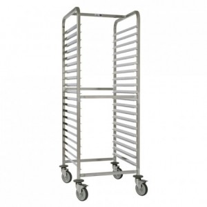 15-shelf sliding tray gastronorm trolley Exceptio GN 2/1 750 x 660 x 1700 mm