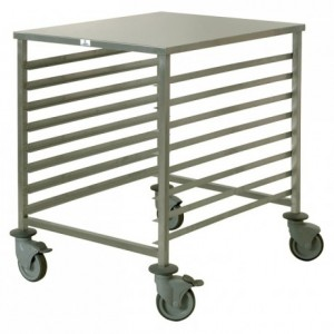 8-shelf low trolley 600 x 800 mm