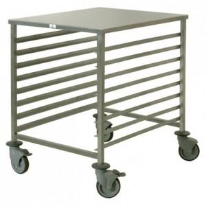8-shelf low trolley 600 x 800 mm