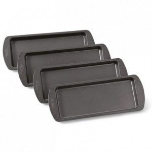 Ensemble moules à gâteau Wilton rectangle 25x10 cm (lot de 4)