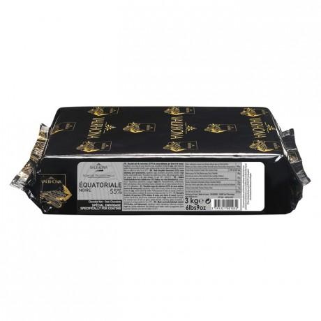 Equatoriale Noire 55% chocolat noir de couverture Signature Professionnelle blocs 3 kg
