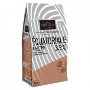 Equatoriale Lactée 35% chocolat au lait de couverture Signature Professionnelle fèves 3 kg