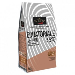 Equatoriale Lactée 35% milk chocolate Professional Signature block 3 kg
