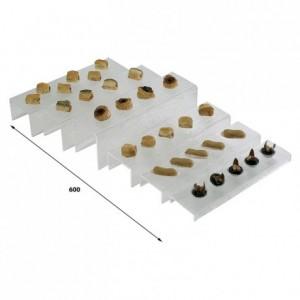 Escalier petites marches 400 x 100 x 100 mm