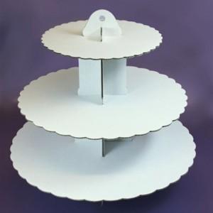 Culpitt 3 Tier White Cupcake Stand