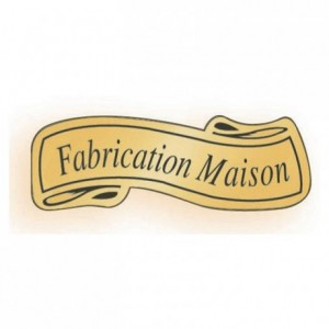 "Adhesive label ""Fabrication maison"" (1000 pcs)"