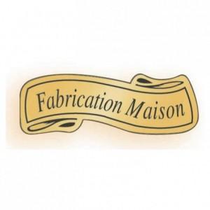 Etiquette adhésive «Fabrication maison» (lot de 1000)