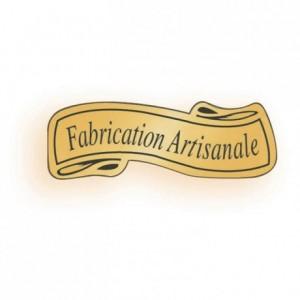 Etiquette adhésive «Fabrication artisanale» (lot de 1000)
