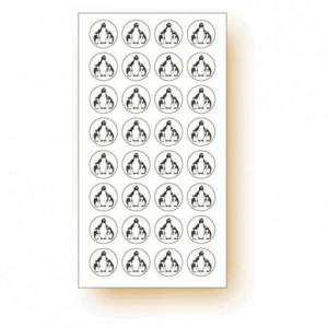 """""""Frozen products"""" adhesive label Penguin (120 pcs)"""