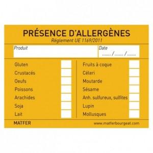 Allergen label (250 pcs)