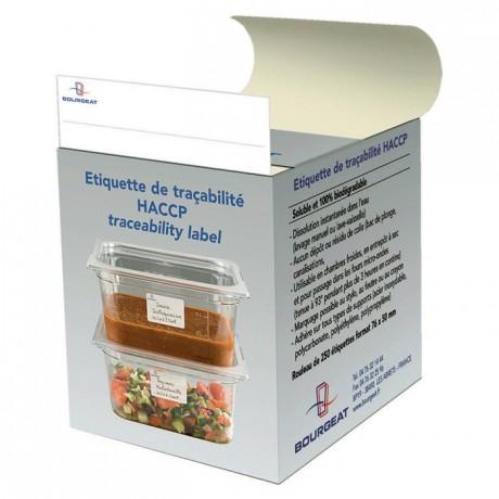 Etiquette HACCP hydrosoluble 71 x 51 mm (lot de 250)