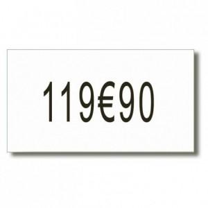 Etiquette neutre pour étiqueteuse réf 140950 (8 x 2500)