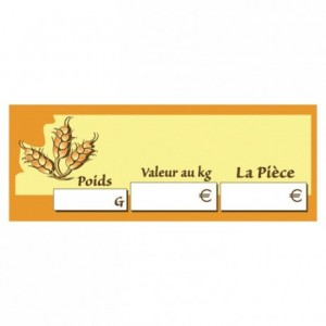 Etiquette prix du pain (lot de 10)