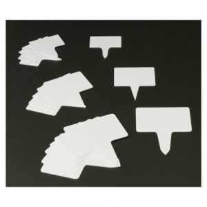 Rectangular PVC label 80 x 55 mm (10 pcs)