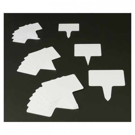 Etiquette rectangle PVC 80 x 55 mm (lot de 10)