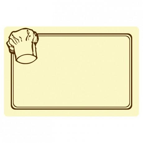 Etiquette toque 60 x 40 mm (lot de 10)