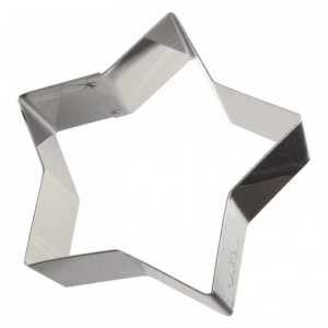 Etoile inox H30 90x85 mm (lot de 6)