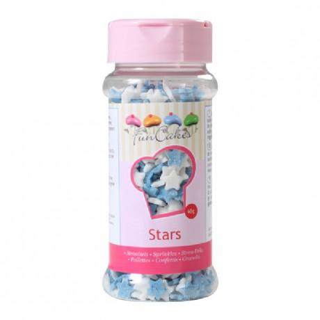 FunCakes Stars Blue White 60g