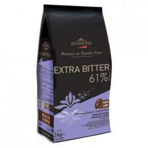 Extra Bitter 61% dark chocolate Blended Origins Grand Cru beans 3 kg