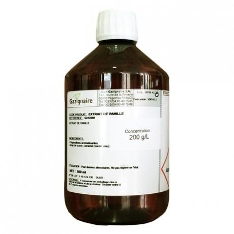 Extrait de vanille Bourbon 200 g/L 500 mL