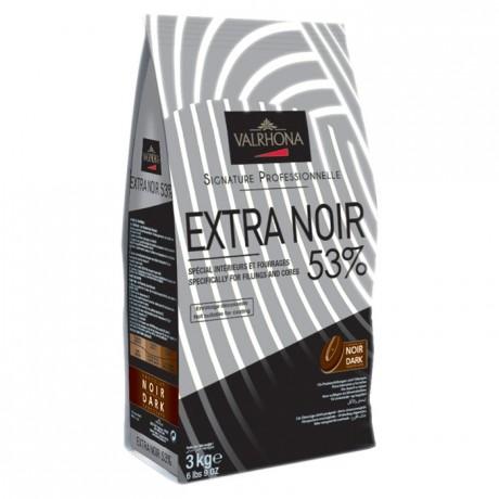 Extra Noir 53% chocolat noir Signature Professionnelle fèves 3 kg
