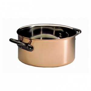 Round casserole Alliance copper/stainless steel without lid Ø 240 mm
